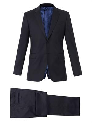 Byard single-breasted wool-blend suit