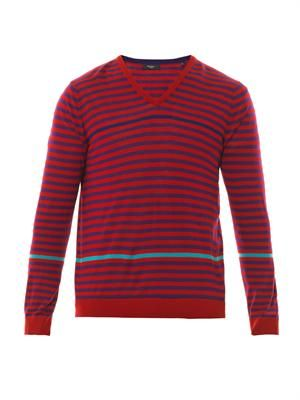 Striped merino-wool sweater
