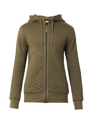 Quilted jersey hooded sweatshirt