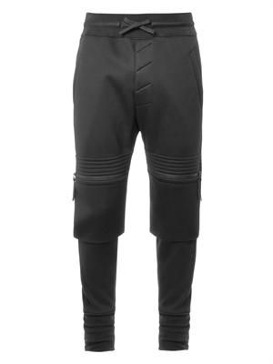 Sponge-fleece biker track pants