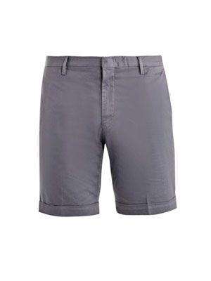 Cotton slim fit shorts