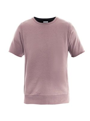 Short-sleeve sweat top