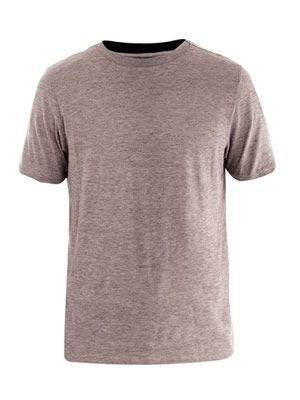 Melange cotton T-shirt