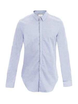 Contrast placket stripe shirt