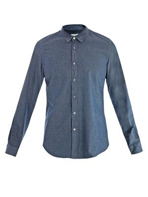 Diamond jacquard shirt