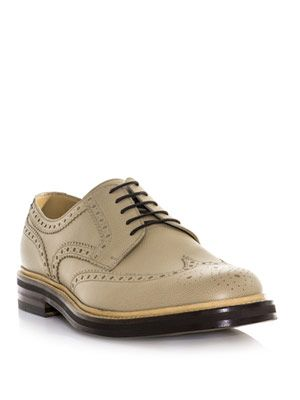 Textured leather brogues