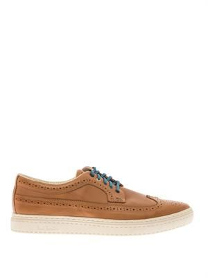 Merced leather brogue trainers