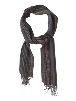 Hazy multi-stripe wool scarf