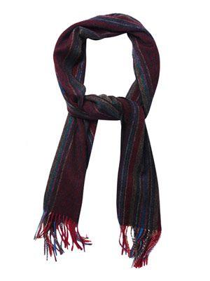 Hazy multi-stripe wool scarf