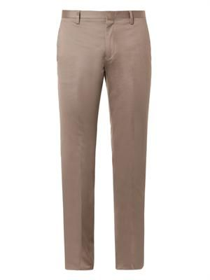 Flat-front chinos