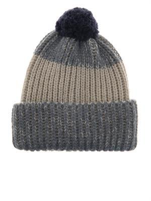 Wool and alpaca-blend beanie