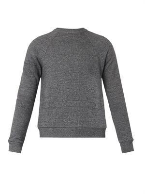 Cotton and silk-blend sweatshirt