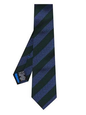 Diagonal stripe-jacquard silk tie