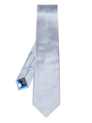 Micro polka dot-jacquard silk tie