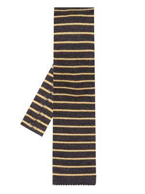 Stripe knitted wool tie