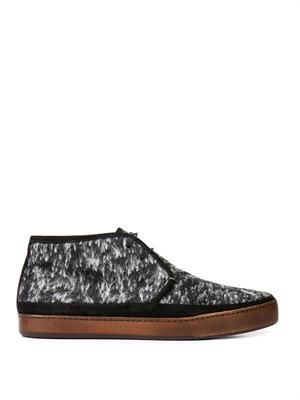Ray wool and suede desert boots