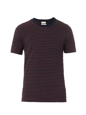 Crew-neck wave-jersey T-shirt