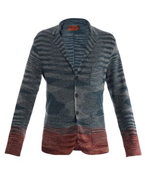 Linen-cotton single-breasted jacket