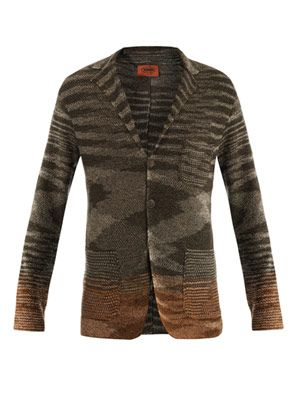 Linen-cotton knitted jacket