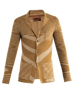 Cotton-blend knitted jacket