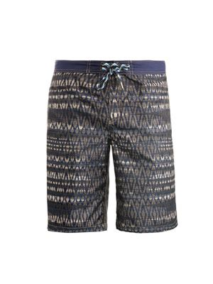 Jacquard-print surf swim shorts