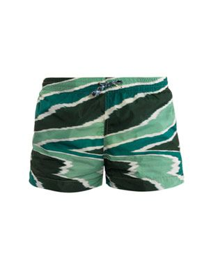 Swirl-print swim shorts