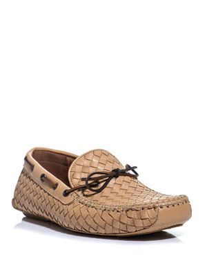 Intrecciato woven leather loafers