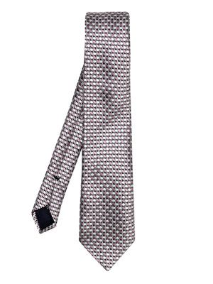 Dual colour diamond-print tie