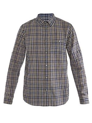 Madras checked shirt