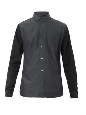 Colour-block cotton shirt