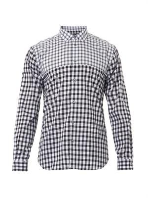 MARC BY MARC JACOBS Contrast-check cotton shirt