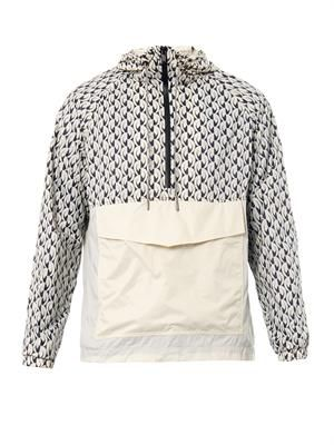 Bellflower-print lightweight jacket