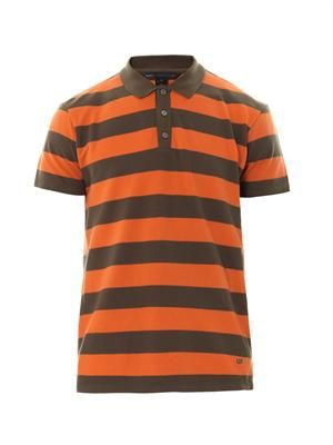 Alta Dena striped polo shirt