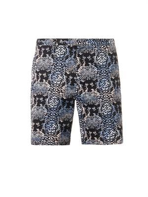 Rex snake-print cotton shorts