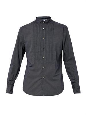 Pin-dot-print cotton shirt