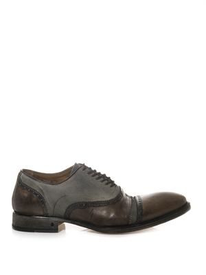 Fleetwood canvas and leather oxford shoes