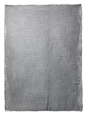 Spot-print crinkle gauze scarf