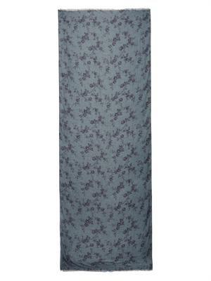 Floral fine-knit scarf