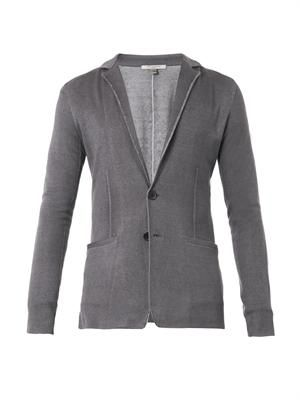 Silk and cashmere-blend knit cardigan
