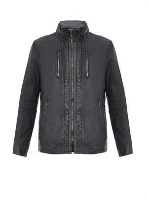 Coated-linen jacket