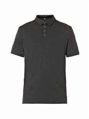 Silk-blend polo shirt