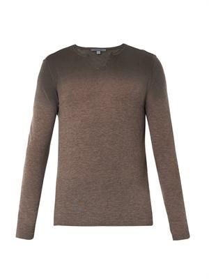 Ombré cashmere-knit sweater