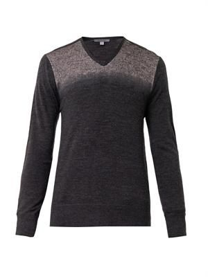 V-neck merino-wool sweater