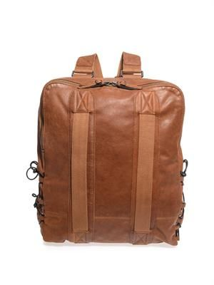 Roland leather backpack