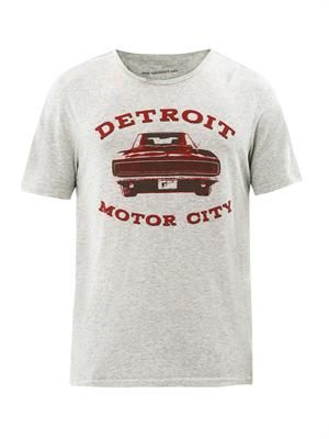 Detroit motor city-print T-shirt