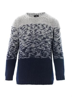 Degrade crew-neck sweater