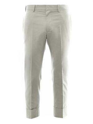 Carl flat-front cropped trousers