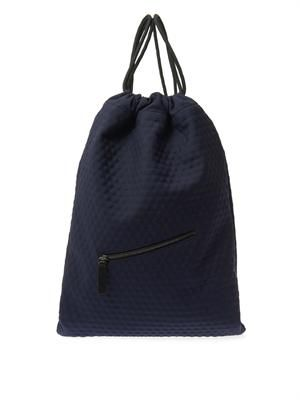 Bubble-effect twill backpack