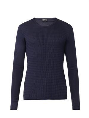 Fine-knit silk sweater