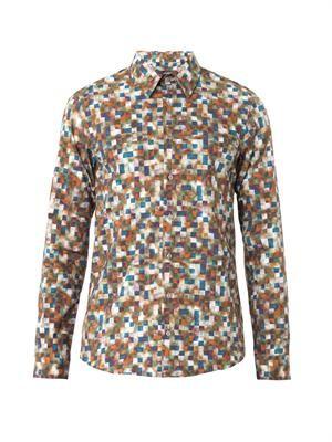 Techno Tweed-print shirt